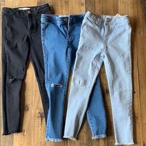 Bundle of three Zara Jeans
